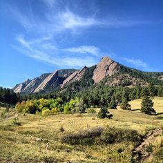 Fresh air + gorgeous views. You can look up at the famed Flatirons and down at the city at the same time.