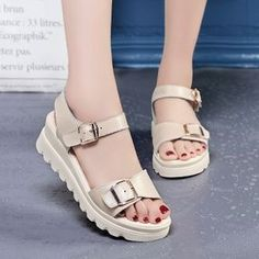 897a0c6634d32 Summer Size Sandal 41 Thick Sole 43 Student 40 Little Size 31 Female 3233  Wedge Heels 34