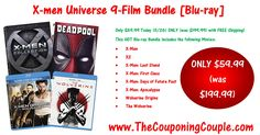 ***HOT GIFT IDEA FOR X-men Fans*** X-men Universe 9-Film Bundle on [Blu-ray] ~ ONLY $59.99 (Was $199.99) TODAY (11/26) ONLY! Click the Picture below to get all of the details ► http://www.thecouponingcouple.com/x-men-universe-9-film-bundle/  Use the SHARE button below the Picture to SHARE this Deal with your Family and Friends!  #Coupons #Couponing #CouponCommunity  Visit us at http://www.thecouponingcouple.com for more great posts!