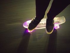 #skateboard #neon #cruiser