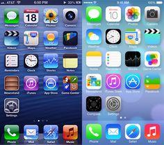 #iOS #Skeuomorphism vs Flat #Design #realism #flatdesign