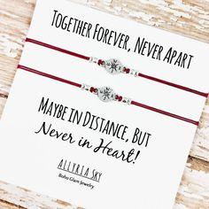 Satz von zwei Kompass Freundschaftsbänder mit von AllyriaSky