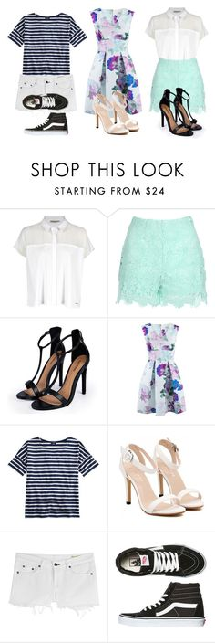 """""""Summer 2015 outfit#2."""" by crazygirlandproud ❤ liked on Polyvore featuring Calvin Klein, Jane Norman, Boohoo, Closet, Saint James, rag & bone and Vans"""