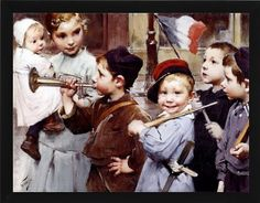 """Henri Jules Jean Geoffroy, """"July Bastille Day – The Lucas Museum of Narrative Art Ecole Jules Ferry, Lucas Museum, French Paintings, Bastille Day, Pre Raphaelite, Illustrations, French Artists, Various Artists, Art For Kids"""