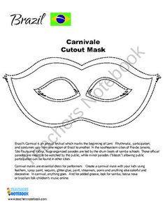 FREE Brazil Carnival mask product from Rocket-Powered-Learning on TeachersNotebook.com