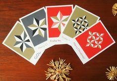Weihnachtskarten mit Sternen // Star Christmas cards by Held&Lykke via DaWanda.com