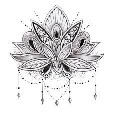 Image result for lace lotus tattoo