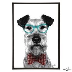 We all know dogs & cats are smart - let them look it too! #Smart #Pets #Group #art #prints #artprints #interiors #decor #design #gifts #gift #dog #doggy #pup #pupart #puppy #hound #pooch #pet