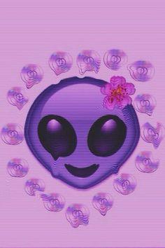 835 images about Emoji 😎😜😍😏😘😈💩 on We Heart It Alien Emoji, Fallout Boy, Hipster Blog, Creepy, Cool Emoji, Emoji Pop, Alien Aesthetic, Aesthetic Pastel, Space Grunge
