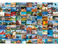 Puzzle Ravensburger 99 Maravillas de USA y Canada de 1000 Piezas