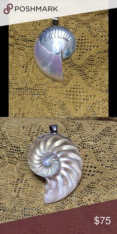 """Shell pendant """"Ocean vibe"""" made in Bali, Large shell pendant. handmade  Jewelry Necklaces"""