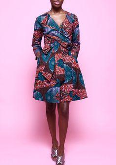 TRINA WRAP DRESS - MALBEC 1