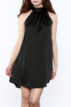 Classic shift style dress in a dreamy satin feel fabric has a ribbon tie at neck. Dance the night away in this charming dress available in black, wine, and blush pink. Fully Lined. Dance The Night Away, Swing Dress, Blush Pink, Fashion Dresses, Satin, Lifestyle, Fabric, Stuff To Buy, Black