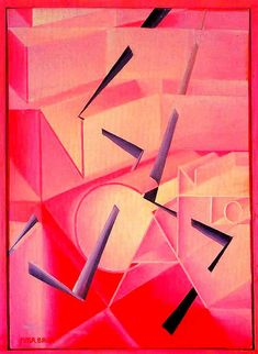 The spell is broken, 1920 - Giacomo Balla Futurist Painting, Mondrian, Gino Severini, Umberto Boccioni, Giacomo Balla, Italian Futurism, Futurism Art, Modernisme, Ex Machina