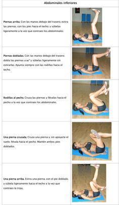 Movimiento único para definir abdominales inferiores