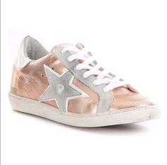 2c3452c1e219 Freebird By Steven 927 Leather Star Sneaker Shoe Rose Gold Size 10 New    eBay Denim