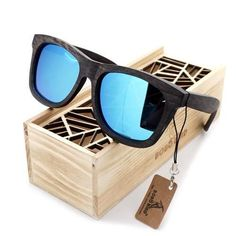 Bobo Bird Premium Natural Frame Sunglasses