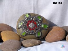 FOR SALE!!! THINK CHRISTMAS Turtle Mosaic Rock Look great in the by CrystalDMosaicDesign, $28.00