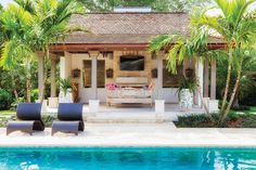 A Mix Of Earthy Materials And Neutral Colors Transforms A Jumble OfRooms Into A Chic Guest House For This Jupiter Hills Club Couple And Their Family