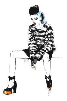 Chloe. Editorial illustrations. by Diana Kuksa (Nesypova), via Behance
