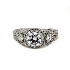 14K White Gold Plated 925 Sterling Silver Round Cut CZ Bridal Ring For Women's #adorablejewelry