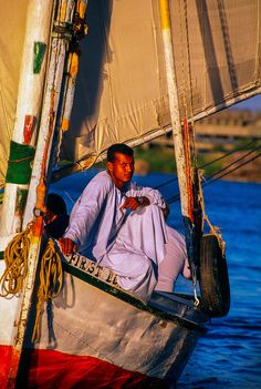 Felucca on the Nile River at Aswan, Egypt