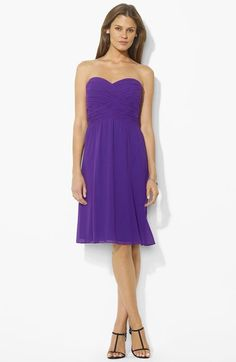 Lauren Ralph Lauren Ruched Sweetheart Dress available at #Nordstrom