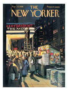 The New Yorker Cover - November 22, 1958 . Arthur Getz