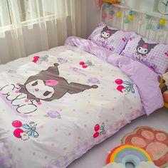 Room Ideas Bedroom, Room Decor, Bedroom Inspo, Silk Bed Sheets, Hello Kitty Bedroom, Cute Furniture, Otaku Room, Aesthetic Rooms, Duvet Bedding Sets