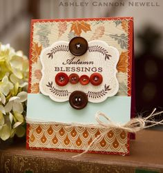 Autumn Blessings card by Ashley Cannon Newell