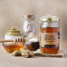 Ginger Honey. It is made by soaking ginger roots in pure raw Honey over a few months. With the goodness of both ginger and Honey. Order Now ! https://www.qtrove.com/collections/preserves/products/ginger-honey