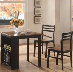 Choosing the right table and chairs also makes a difference. Armless chairs and a round table open up a closed space. #LivingSpaces #MakeSpace #HomeDecor