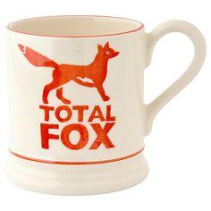 Buy Emma Bridgewater Total Fox Half Pint Mug, Orange/White, 310ml Online at johnlewis.com