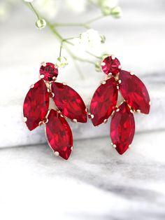 Ruby Earrings Ruby Red Earrings Bridal Ruby Earrings Ruby Jewelry, Ruby Earrings, Turquoise Jewelry, Statement Jewelry, Jewellery, Gemstone Jewelry, Fine Jewelry, Bridesmaid Earrings, Bridal Earrings
