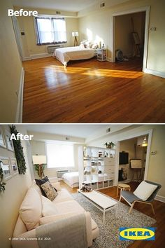 Wondering how to get the most out of your starter studio apartment? With IKEA, there are many easy and affordable ways to maximize your space. #HomeRemodeling