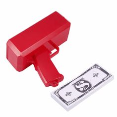 Electronic Money Gun SS17 Make It Rain Money Toy Cash Rain Red Cash Money Gun for Holiday Party Christmas Gift Toys #Affiliate