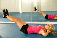 leg lift and hold Exercises to Reduce Thighs Fat