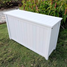 Outdoor Highwooda 42 In Large Recycled Plastic 100 Gallon Deck Storage Box Ad Dbxl1 Whe Products Deck Storage Patio Storage Deck Box