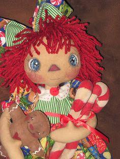 Primitive and Shabby Raggedy Dolls