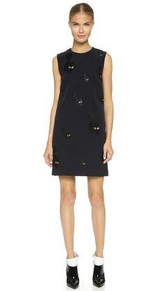 Victoria Victoria Beckham Embroidered Shift Dress, $1576 CAD @shopbop.com