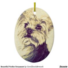 Beautiful Yorkie Ornament