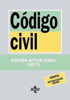 Código civil. Ed. actualizada 2017. Máis información no catálogo: http://kmelot.biblioteca.udc.es/record=b1651747~S1*spi