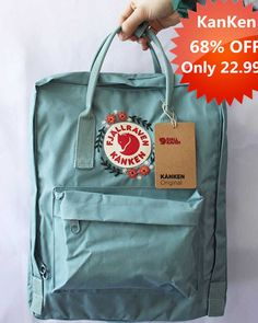 Embroidered Fjällräven Kanken Backpack - Another! Mochila Kanken, Embroidery Bags, Cute Embroidery, Denim Converse, Cute Backpacks, Cute Bags, Diy Clothes, Backpacker, Scrunchies