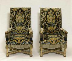 Paire de fauteuil de style Louis XIV, vers 1680 - Musée National du Château de Versailles
