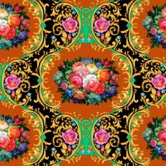 Seamless composition with stunning bouquet 2 by Maria Rytova #pattern #textile #background #backing #paper #work #纹样 #damask #арт #картинки #picture #decoupage #декупаж #дамаск #узоры #barok #baroque #wallpaper #design #卷草 #flower #图案 #фон #print #принт #printable #papel #ornament  #seamless #golden #luxury #surface #rose #floral #decorative #decor #vintage