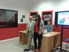 Con Julián  Camacho presentando las Jornadas Nuevos tiempos, nuevos cambios, para los clientes del Grupo IMÁSMEDIA