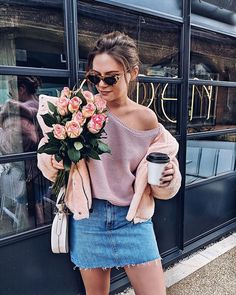 Wake up and smell the coffee - or the rose - or both. OR someones armpit on a packed commuter train on a grey Monday morning || I am spending my morning waiting for my new kitchen table to be delivered and having a little spring clean (a far less glamorous situation than last night #reallifeglam) || shop my outfits by following me on the @liketoknow.it app http://liketk.it/2uHu3 #liketkit || #HAPPYMONDAY