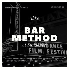 Going to the Sundance Film Festival? #BarMethod has you covered! Bar Method Los Angeles - WestHollywood & Bar Method Salt Lake City are teaming up to offer complimentary classes inside the Wellness Collective Winter Wellness Lounge!  RSVP at https://andrea-fennewald-ymgb.squarespace.com/rsvp (Don't forget to mention you want to take Bar Method at 10AM and choose a date between January 20 - 24th).
