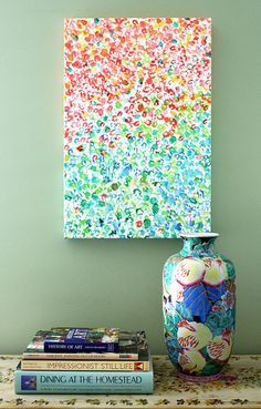 Inspired by blooming gardens, my Colors on Canvas adds a pop of color and perfect balance to your favorite space. Home Decor, Art on Etsy, Giclee on Canvas Painting Inspiration, Color Inspiration, Canvas Art, Canvas Prints, Blank Canvas, Inspirational Wall Art, Diy Wall Art, Diy Artwork, Diy Painting