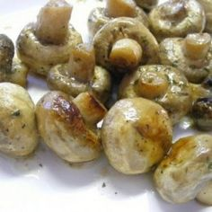 Ranch Mushrooms- butter, 2 packets of Ranch dressing, 1 Packet of italian dressing. In a crock pot, for 3-4 hours. Everyone loves them.